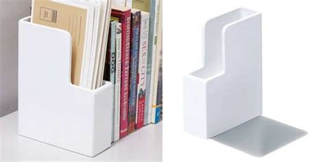 simple bookshelf space savers letter holder bookend