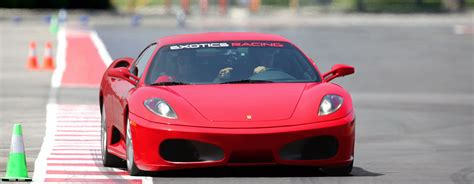 drive a experience drive a f430 f1 on a racetrack at exotics racing