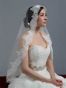wedding veils ivory cathedral alencon lace wedding veil v033c