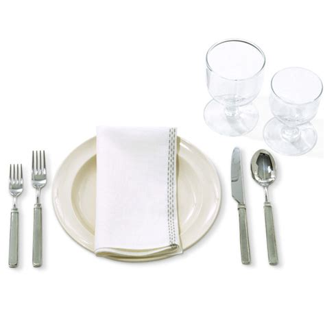 casual table setting the rules how to set a formal or not so formal table