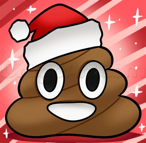 christmas poo emoji drawing lesson step  step