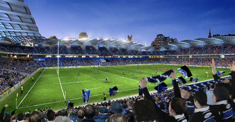 Architectural Site Plan by Bath Rugby Stadium Redevelopment Kss
