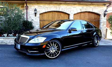 Handmade Mercedes - 2012 black mercedes s550 with machined black and chrome