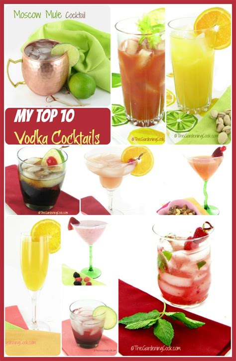 top 10 vodka drinks popular vodka drinks