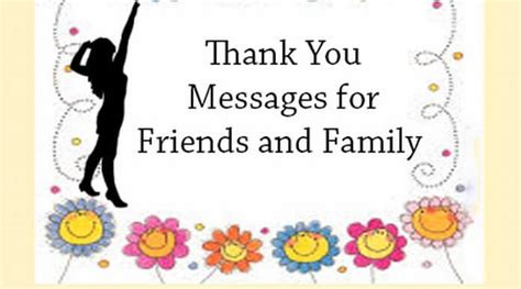 messages for friends and family thank you messages for friends and family