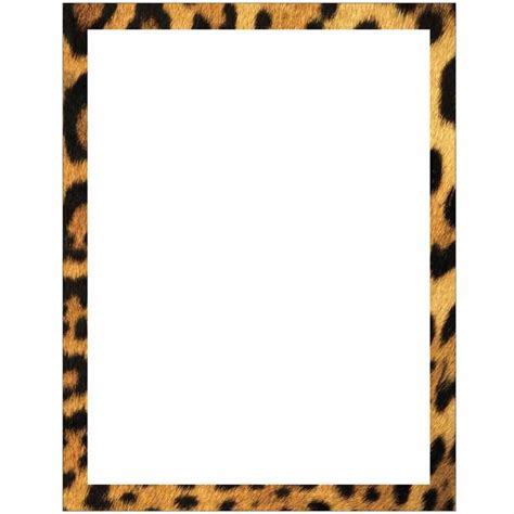 Cheetah Print Wall Stickers leopard print border stationery letter paper