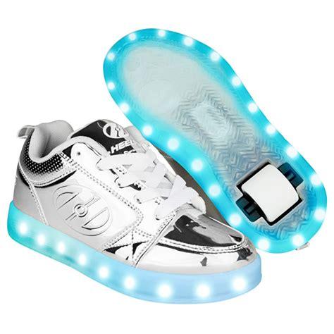 heelys light up shoes heelys premium 1 lo light up silver chrome heelys