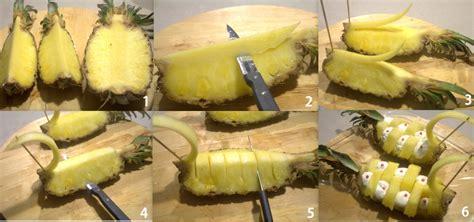 come presentare l ananas a tavola come tagliare ananas a cigno con spiegazione passo passo