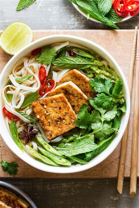 vegan pho  spicy tofu lazy cat kitchen
