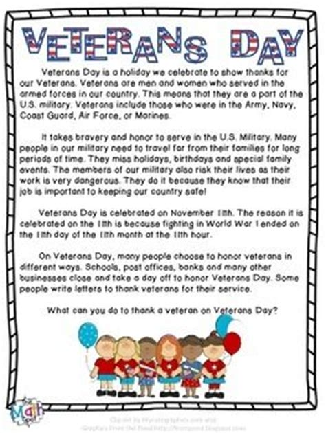 Summary Of S Day Free A One Page Summary Of Veterans Day And Why
