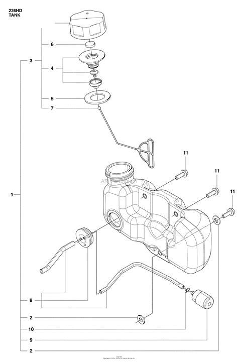 husqvarna  hd     parts diagram  fuel tank