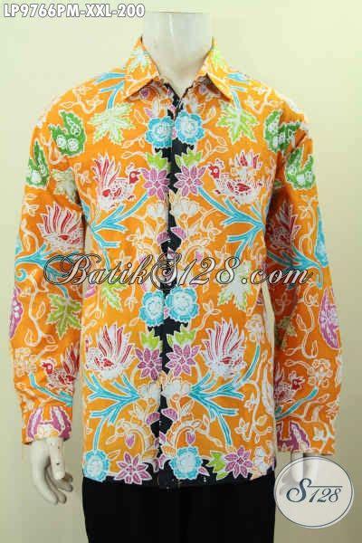 Hem Batik Keren by Batik Hem Keren Lengan Panjang Hem Batik Warna Kuning