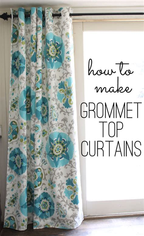 how to make drapery grommet top curtains tutorial a step by step free guide
