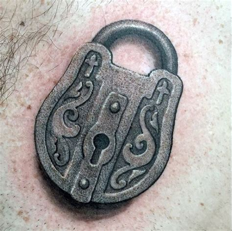 padlock tattoo designs 60 key tattoos for unlock masculine design ideas