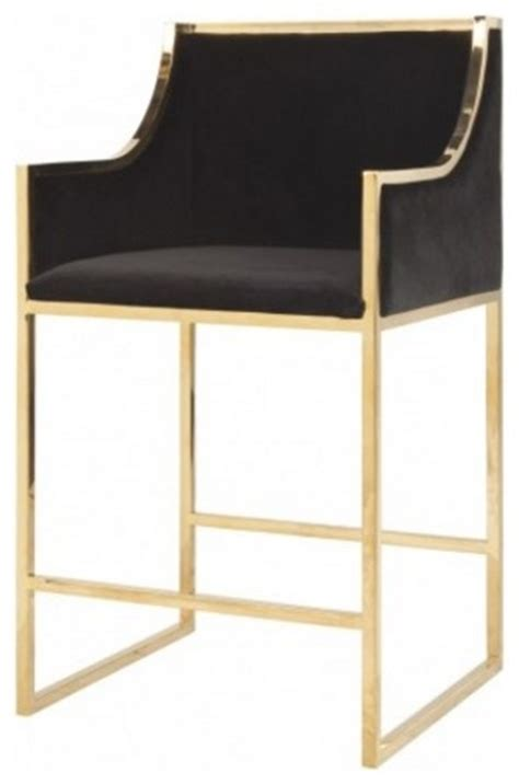Kitchen Wall Cabinet Height Worlds Away Hazel Counter Stool Black Gold Contemporary