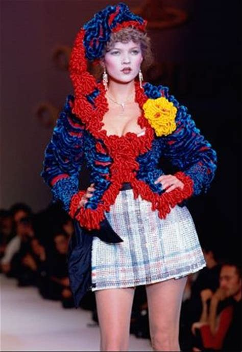 Geekery Rubs On Catwalk For Operation Kate Moss by 1995 96 Vivienne Westwood Show Kate Moss Vivienne