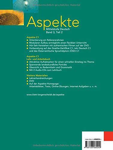 libro planetino arbeitsbuch 2 libro aspekte 3 c1 in teilb 228 nden lehr und arbeitsbuch 3 teil 2 mittelstufe deutsch di ute