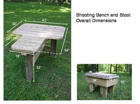 shooting bench design work with wood project popular free woodworking plans for