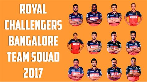 team of rcb in 2017 ipl list ipl 2017 royal challengers bangalore team squad 2017