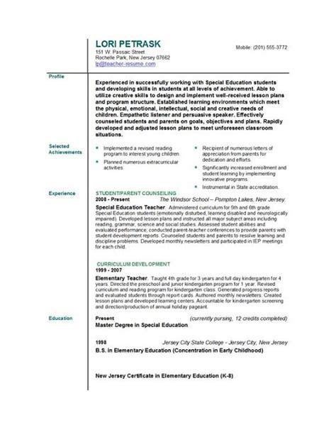 sample teacher resume sample teacher resume sample education resume