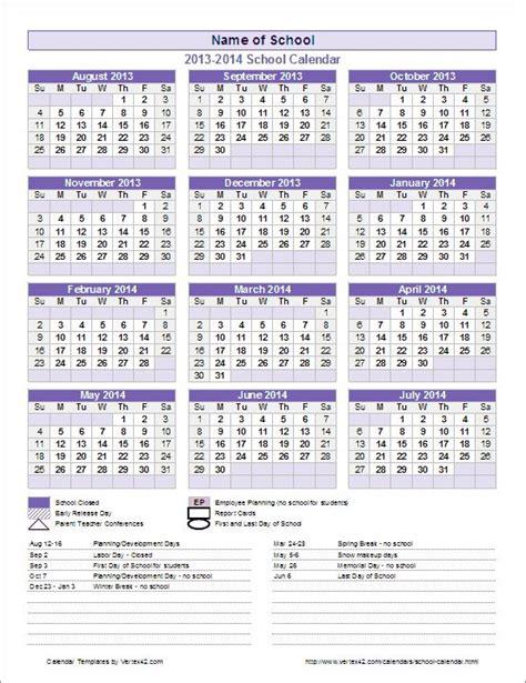 create school year calendar excel calendars
