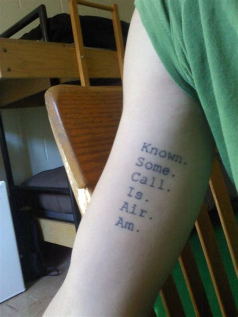house of leaves tattoo known some call is air am contrariwise literary