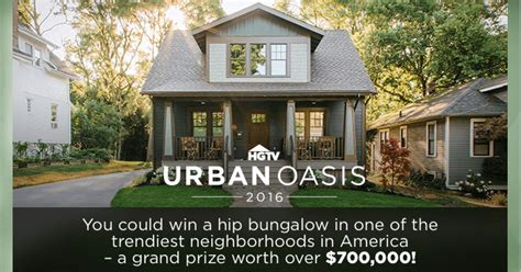 Single Entry Sweepstakes - hgtv urban oasis 2016 sweepstakes