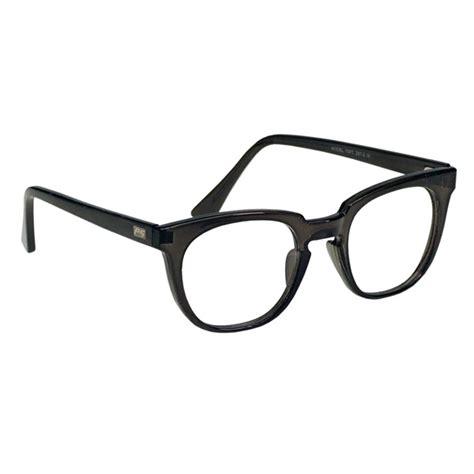 rx 70 pc prescription safety glasses black plastic frame