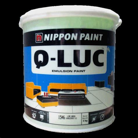 jual cat tembok  luc nippon paint  kg warna lengkap