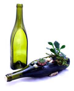 wine bottle garden succulent planter diy build your own