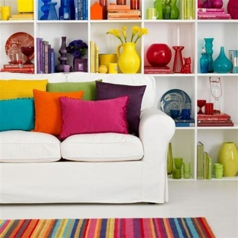 how to add color to a room colorblock bookshelves 15 ways to add color to your home