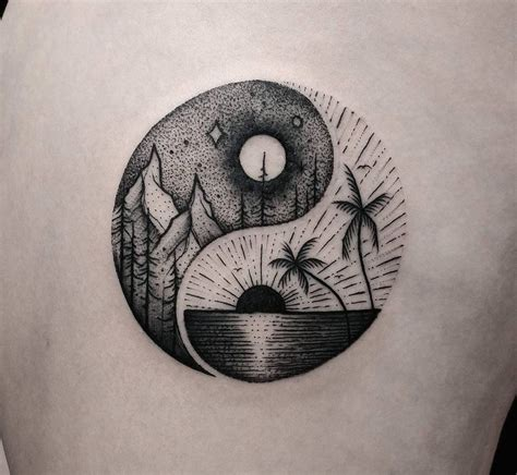 balance symbols tattoos summer winter and yin yang