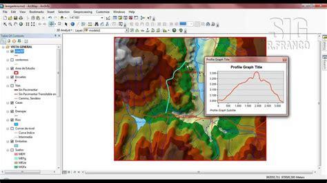 video tutorial arcgis 10 2 tutorial arcgis cap 13 14 arcscene generar perfil de