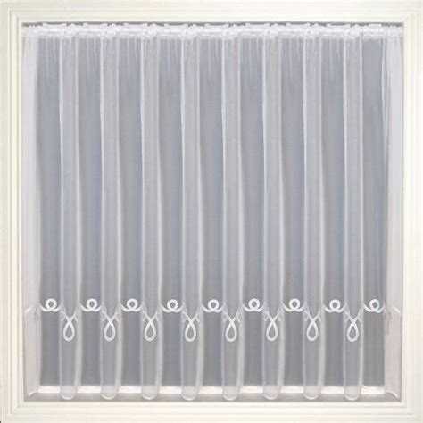 embroidered voile curtains uk elaine white embroidered voile net curtain 2 curtains