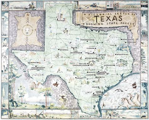 map of state parks in texas tpwd civilian conservation corps texas state parks