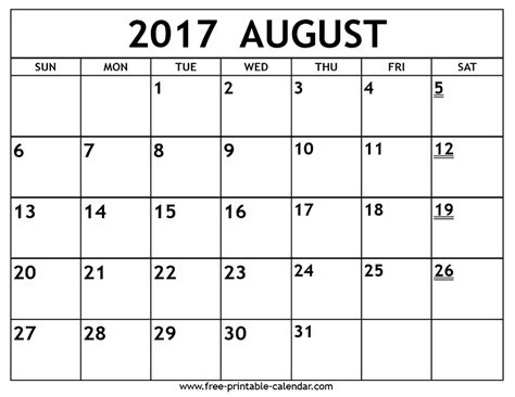 printable calendar september 2017 to august 2018 august 2017 calendar template calendar 2017 printable
