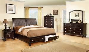 Storage King Size Bedroom Set Espresso King Size Storage Bedroom Set Transitional