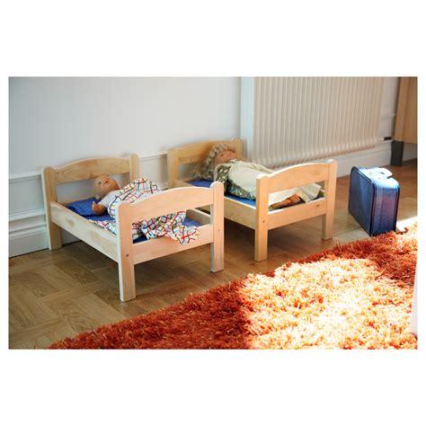 Ikea Bed And Mattress Set Duktig Doll S Bed With Bedlinen Set Pine Multicolour Ikea