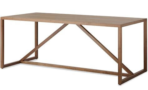 Strut Large Wood Table Hivemodern Com Dot Strut Dining Table