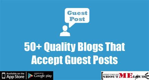 list   quality blogs  accepts guest posts