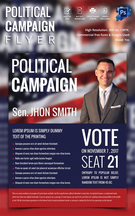 images  fireworks election campaign flyer template