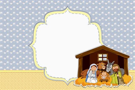 nativity card templates sweet navity free printable invitations or cards