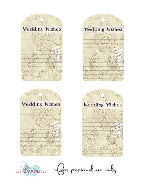 Wedding Wishes Printable by D Designs Free Printable Wedding Wishes Tags