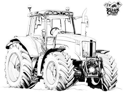 imprimer format dwg tracteur a colorier massey ferguson elliot club