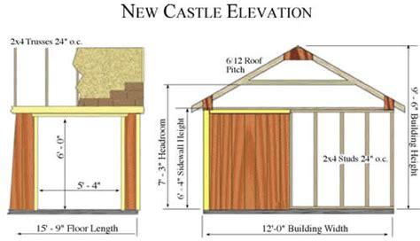 best barn new castle 16x12 wood storage shed kit