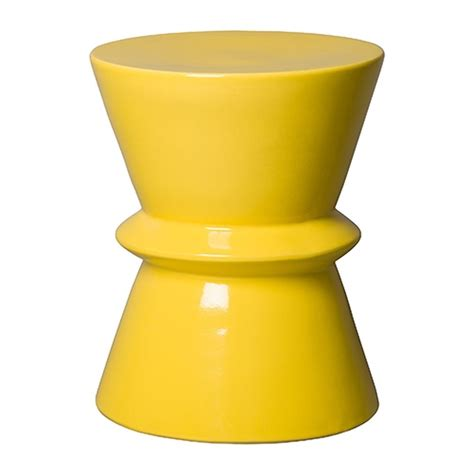 yellow garden stool yellow zip ceramic garden stool seven colonial