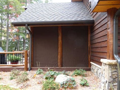 blinds exterior solar shades traditional deck other metro by blinds screen porch shades protect rustic exterior other metro by weather shades llc