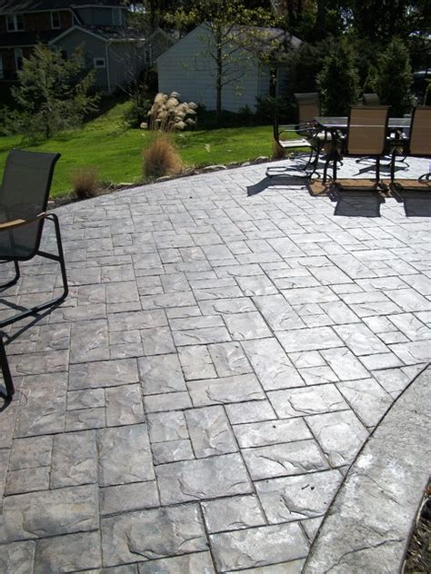 Slate Patio Designs Ashler Slate Sted Concrete Patio