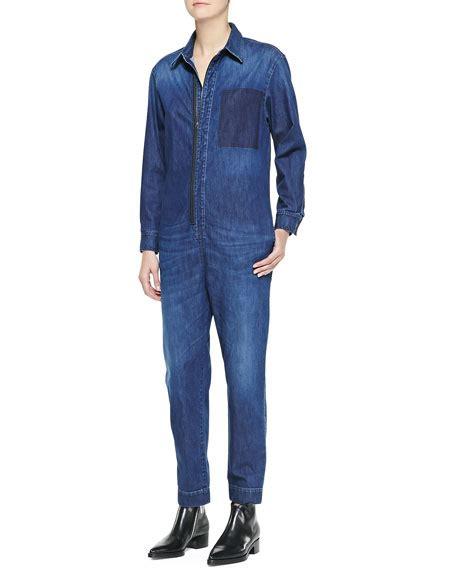 Andina Jumpsuit Bu Unique stella mccartney kieran zip front denim jumpsuit