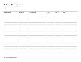 childcare sign in sheet template childcare sign in sheet template free microsoft word